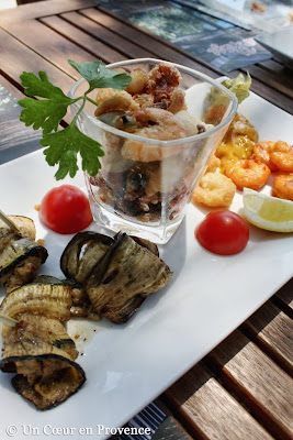 Tapas served at Le Pradeau Plage restaurant