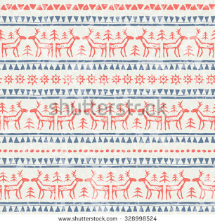 http://www.shutterstock.com/pic-328998524/stock-vector-christmas-seamless-pattern-with-stylized-reindeer-christmas-trees-and-geometric-ornament.html