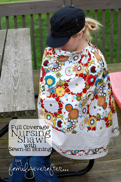 Full Coverage Nursing Shawl Tutorial! Super cute way to cover up when nursing!