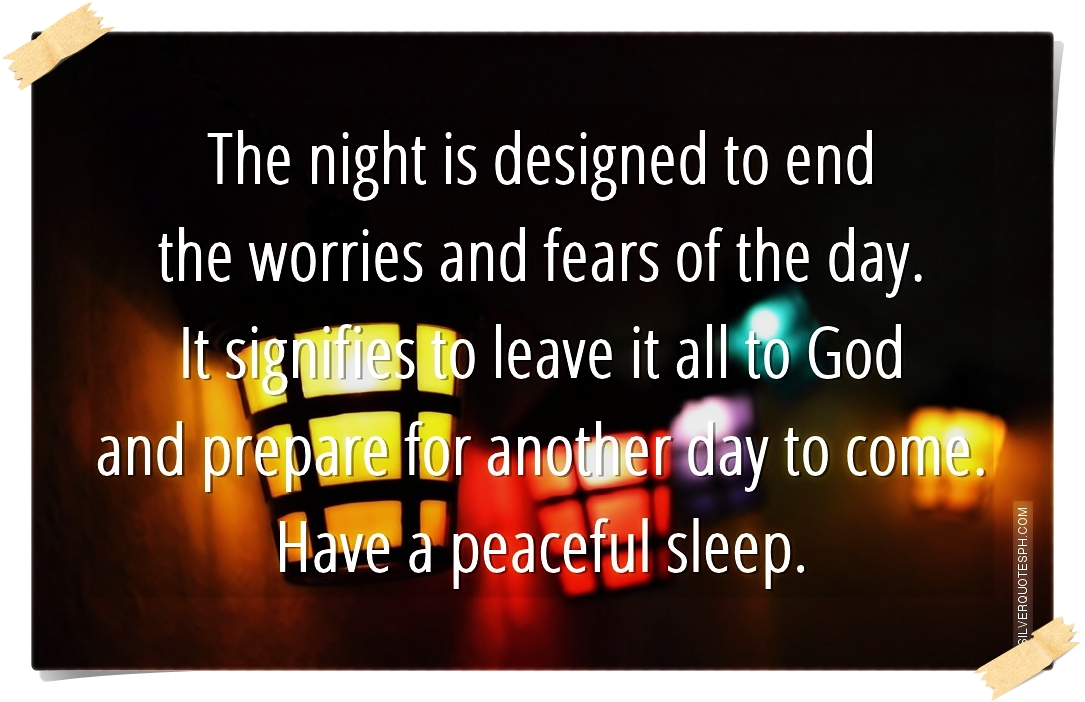 have a peaceful sleep silver quotes