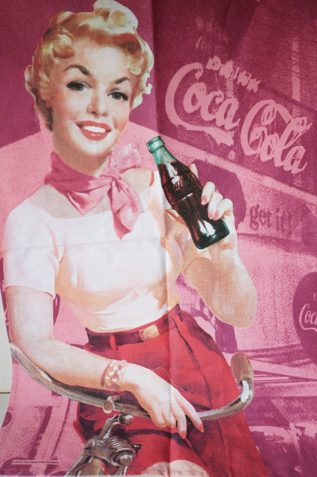Pano de prato Coca-Cola retrô - loja Dellabino