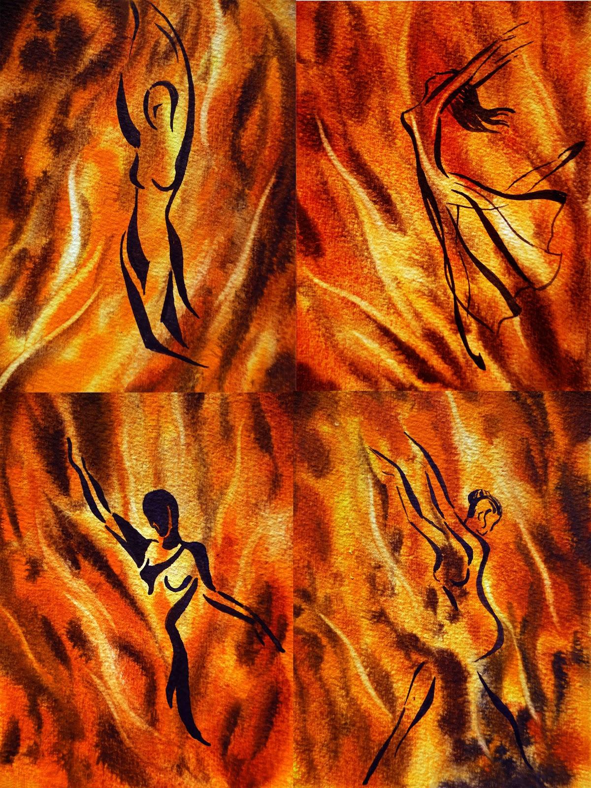 Dancing Fire | Artist Illustrator Irina Sztukowski Her Art Journey