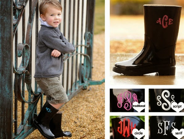 custom personalized rain boots for kids