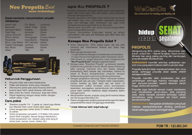Neo Propolis Exist dengan Nano Technology