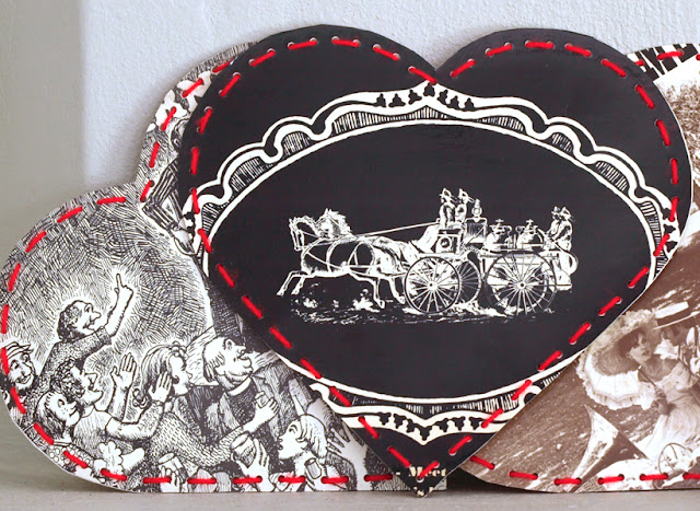 Recycled Paper Hearts