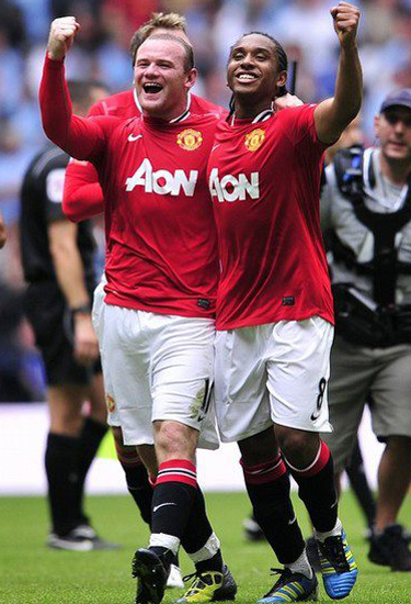 Rooney and Anderson Manchester United v Manchester City Community Shield