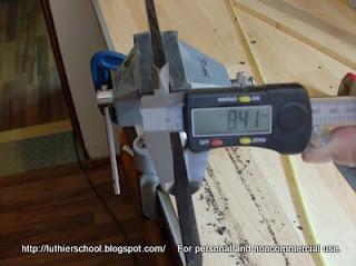 Μέτρηση αρχικού πάχους ταστιέρας με το παχύμετρο