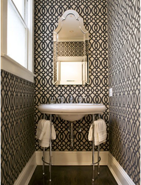 Wallpaper For Small Bathroom 2017 Grasscloth