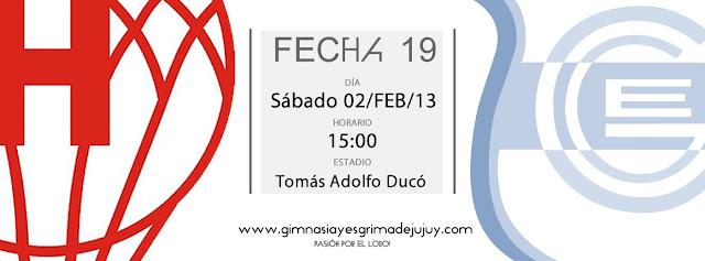 Fecha 19: Huracán vs. Gimnasia de Jujuy