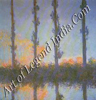"The Great Artist Claude Monet Painting ""Poplars"" 7891 321/4"" x 321/4"" Metropolitan Museum of Art, New York"