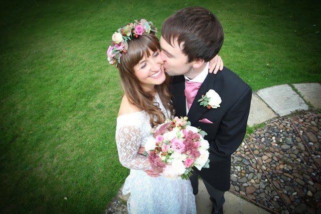 Real vintage bride Olivia on Heavenly Vintage Wedding blog 2014