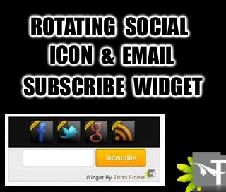 Rotating Social Icon and Email Subscribe Widget