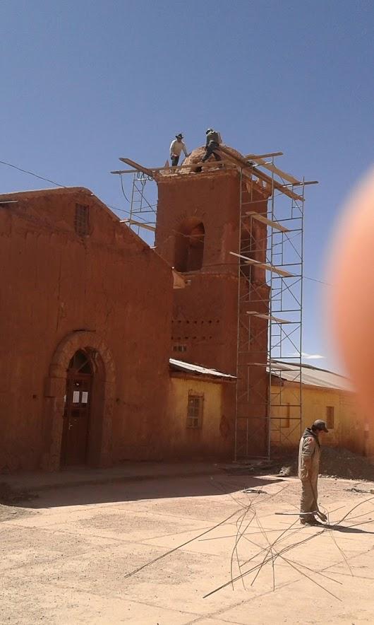 Kirchenrenovierung in San Pablo de Lipez Bolivien