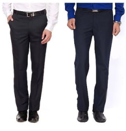 Buy Mafatlal Combo of 2 Trousers Fabric pcs at Rs. 269 only