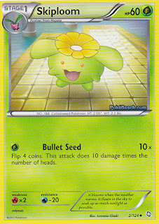 Skiploom Dragons Exalted Pokemon Card