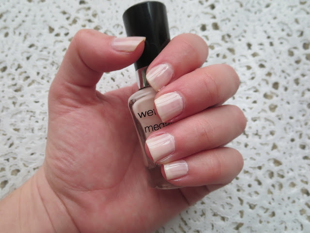 a picture of Wet n Wild Mega Last Nail Color in Sugar Coat (two coats swatch)