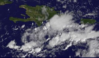 Satellitenbild Dominikanische Republik: Unruhiges Wetter in Punta Cana und Cabarete zu erwarten, Dominikanische Republik, Puerto Rico, Punta Cana, November, aktuell, 2011, Hurrikansaison 2011, Wettervorhersage Wetter, Satellitenbild Satellitenbilder,