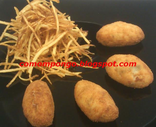 Croqueta de shiitake  y puerro