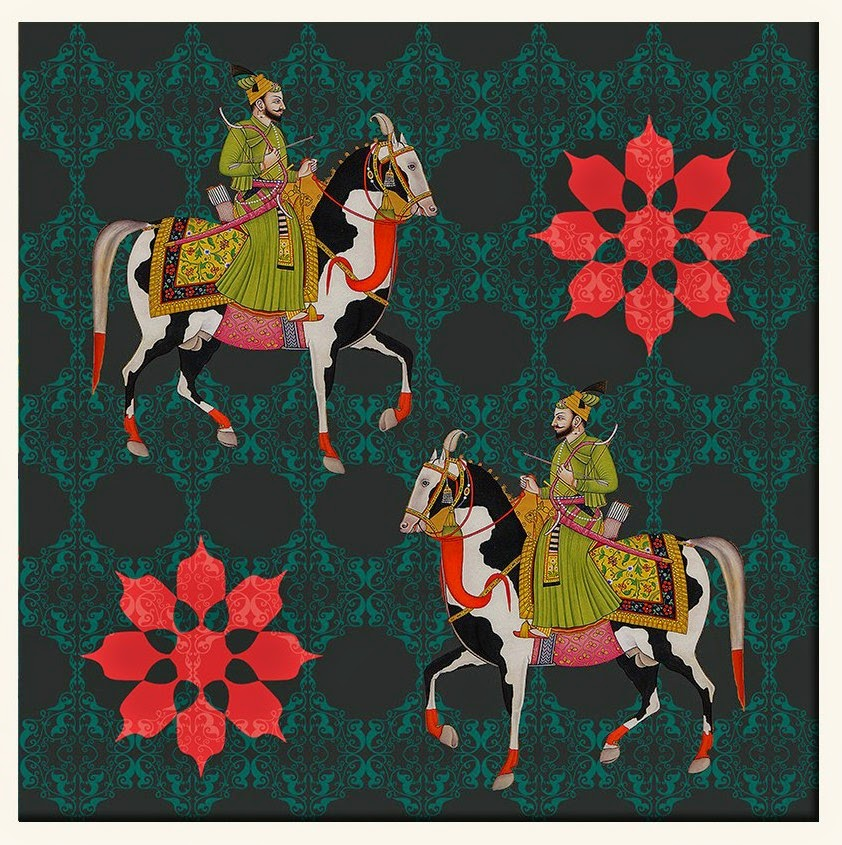 Iu0027ve been fascinated with their newest additions to the wall art  collection. The intense colors portraying the splendor of Indian royal  cavalry, ...