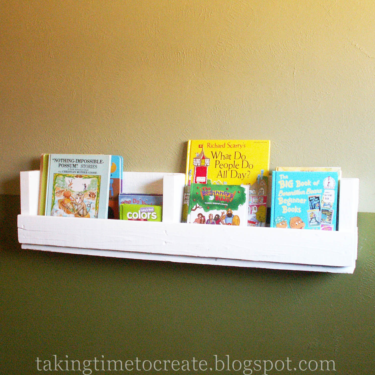 Taking Time To Create: Pallet Book Shelf {Book Rack}