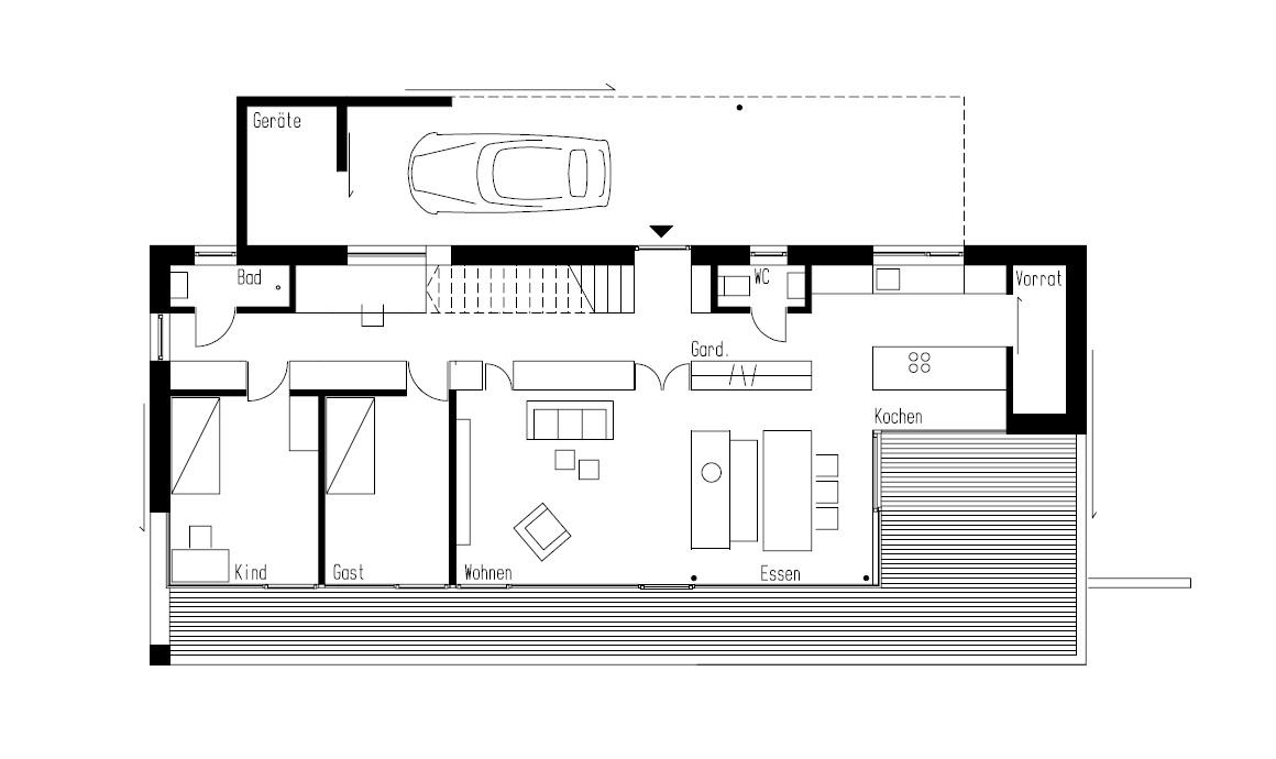 Simplicity love house in weinfelden switzerland k m architektur - Architektur plan ...