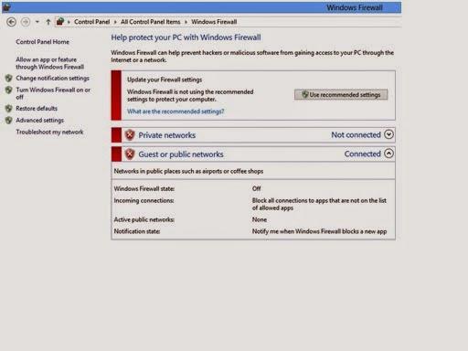firewall off in windows 8