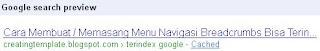 Cara Membuat / Memasang Menu Navigasi Breadcrumbs Bisa Terindex Google Cara Membuat / Memasang Menu Navigasi Breadcrumbs Bisa Terindex Google
