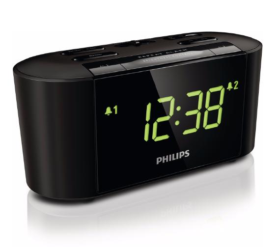 philips clock radio aj3232b how to set radio alarm