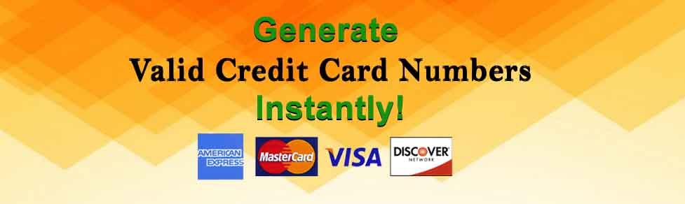 Generate Valid Credit Card Numbers: Generate Visa Card Numbers