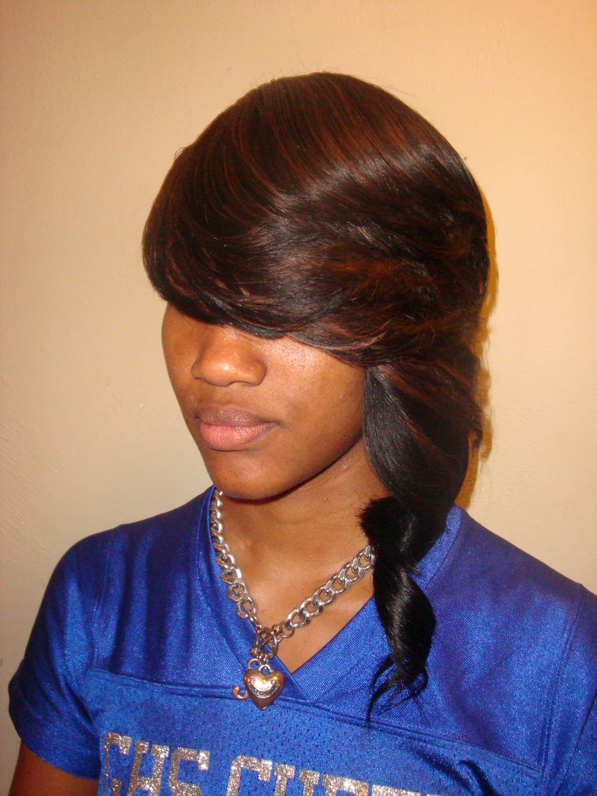 Invisible Part Sew In Straight Hair Look book:sew-ins,