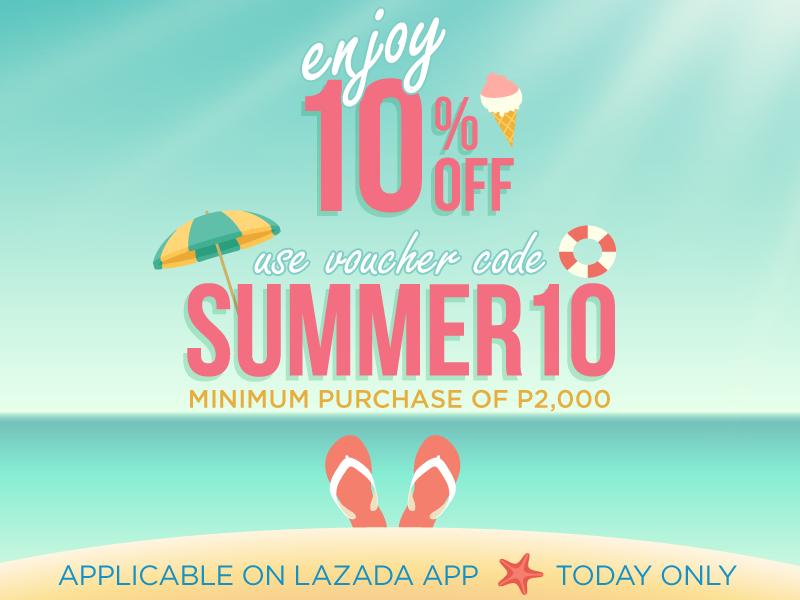 Lazada Mobile Summer Sale 10% Voucher Code