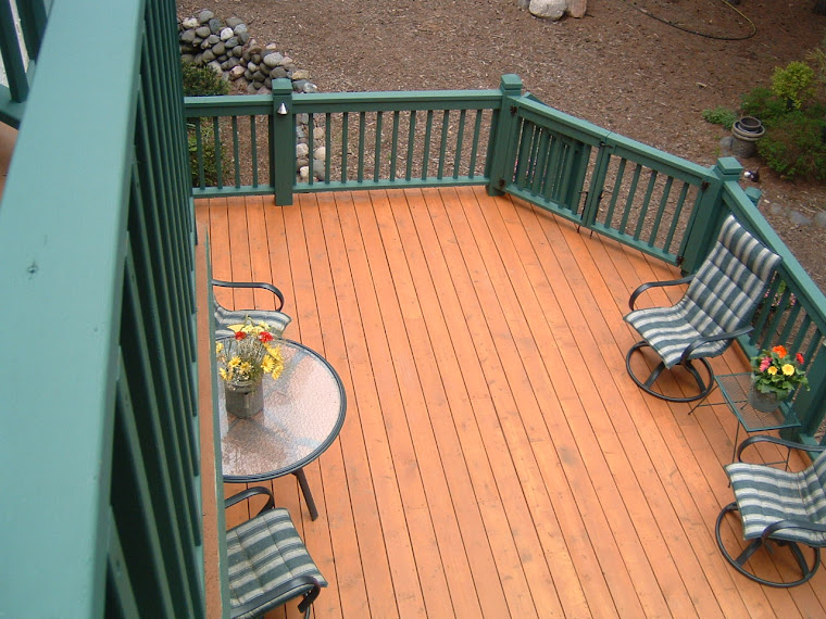 Split Deck.  Solid and Semi-Solid Stains
