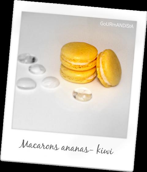 image Macarons ananas - kiwi