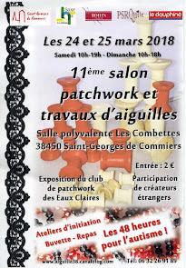 Salon patchwork et travaux d'aiguilles les 24 et 25 mars à Saint Georges de Commiers