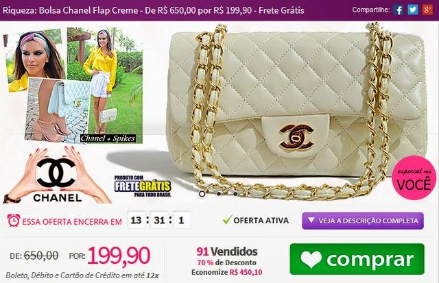 http://www.tpmdeofertas.com.br/Oferta-Riqueza-Bolsa-Chanel-Flap-Creme---De-R-65000-por-R-19990---Frete-Gratis-647.aspx