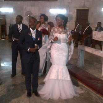 Wedding Photo From Nigerian Comedian,Teju Baby Face And His Wife