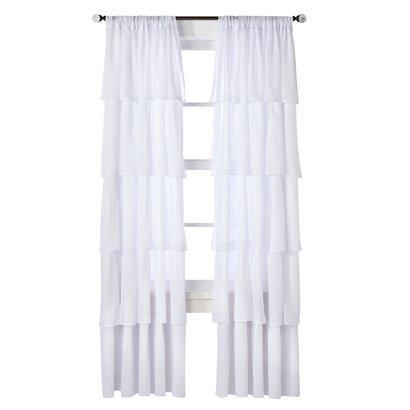 White Ruffle Shower Curtain Target