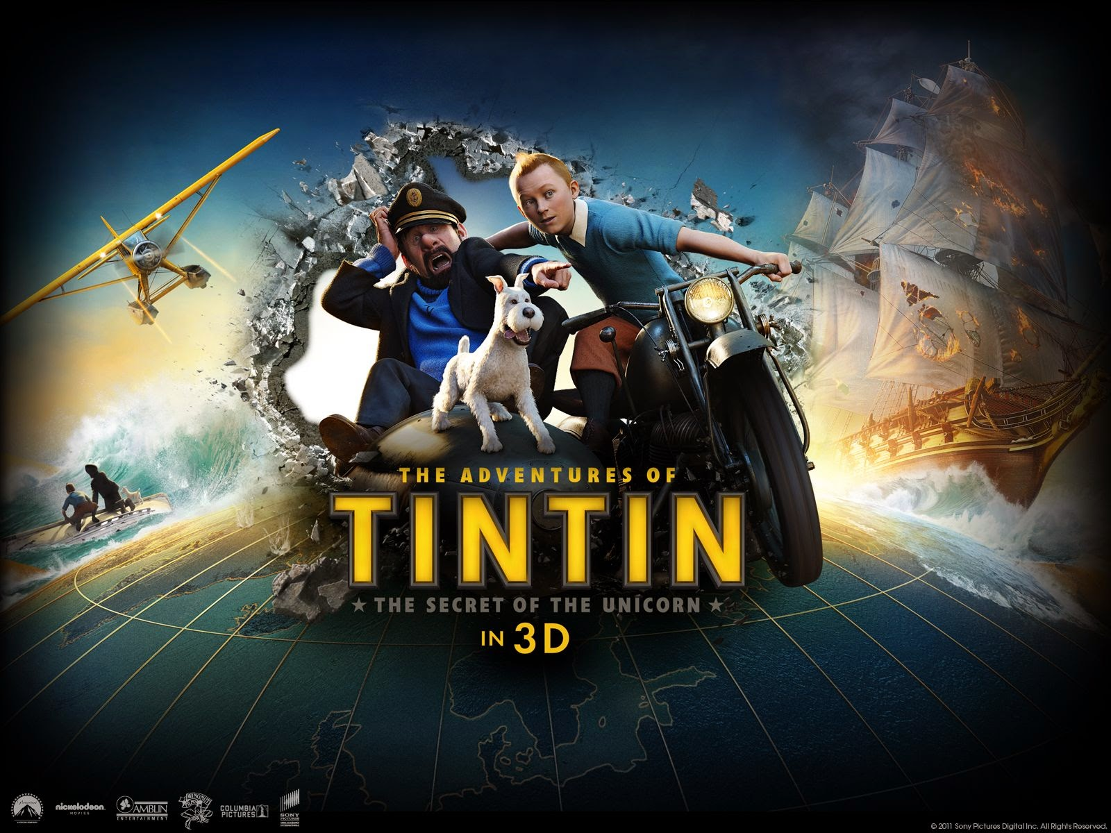 The Adventures Of Tintin : The Secret Of Unicorn 2011 [Review]