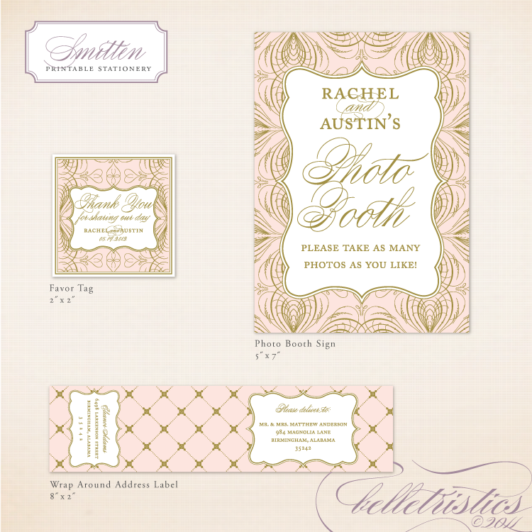 gold printable diy wedding reception stationery design