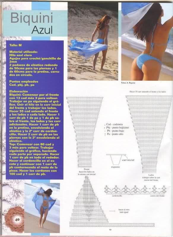 TRICO y CROCHET-madona-mía: Patrones bikinis a ganchillo ( crochet)