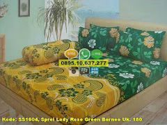 Harga Sprei Lady Rose Green Borneo Uk. 180 Jual