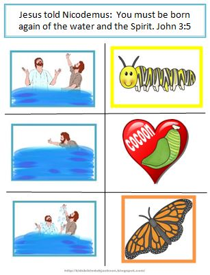 This Is The Same Project I Have Done For Nicodemus Years Kids Seem To Understand Baptism Better You Can See Poster Size Printables Here