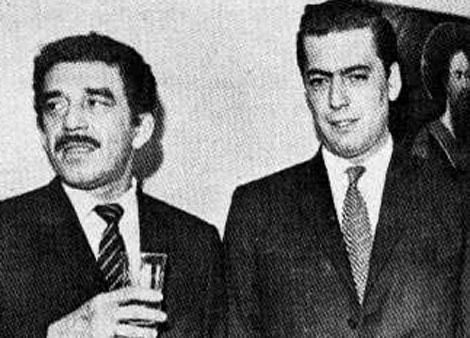 Gabriel García Márquez con Mario Vargas Llosa