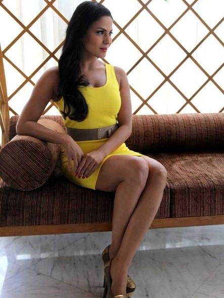 Veena Malik Hot In Yellow dress