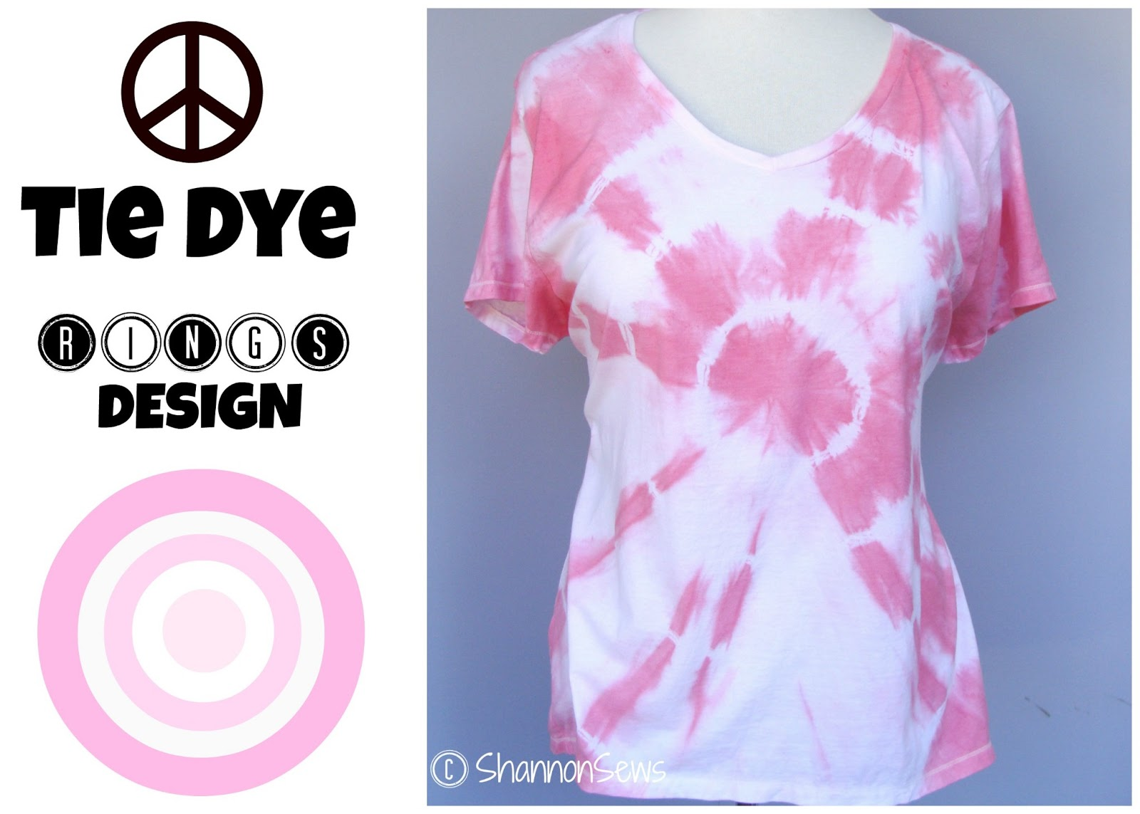 Design t shirt hand made - Make Tie Dye Rings T Shirt Tutorial