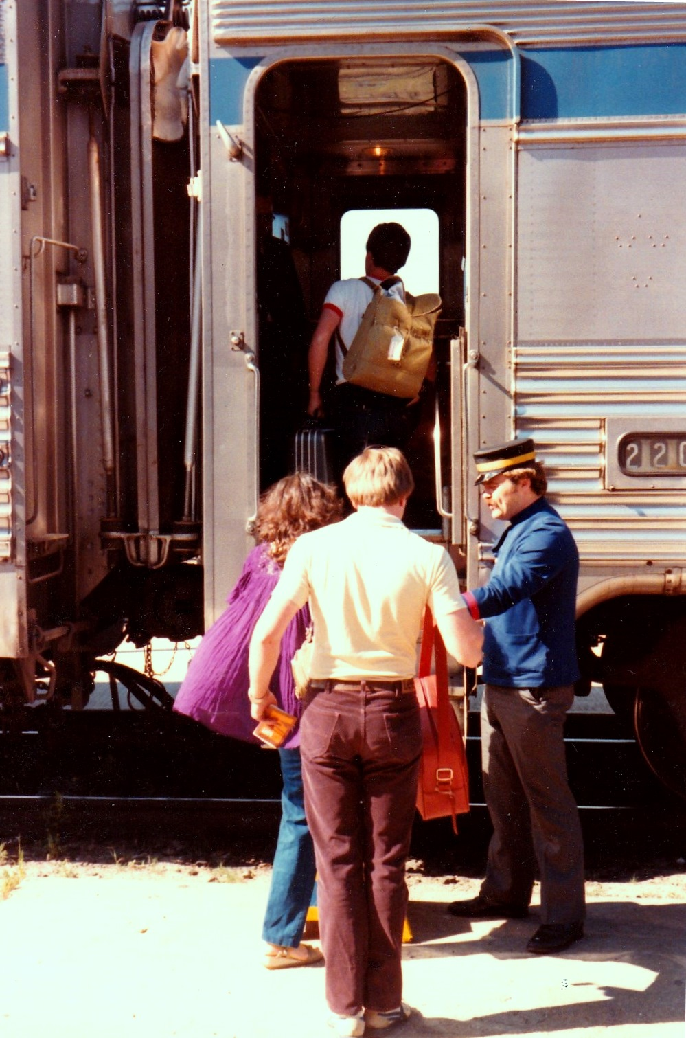 Boarding No 2 in June, 1982