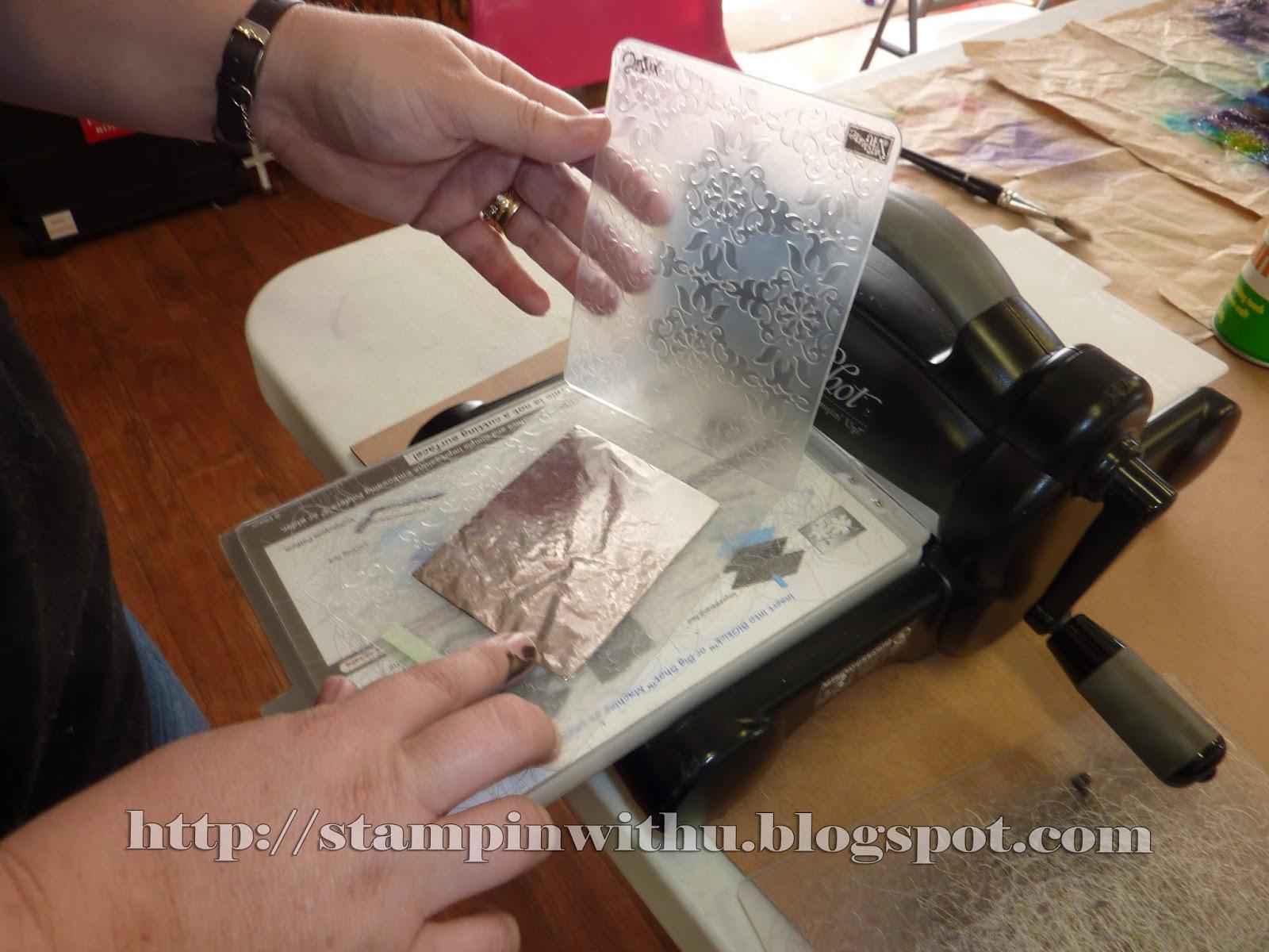 Big Shot Embossing Foil technique