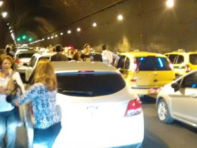 Vídeo: Tiroteio no Túnel assusta motoristas