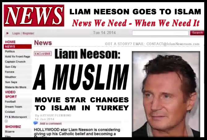 Did Liam Neeson  Converted To Islam  Or Not Yet ?