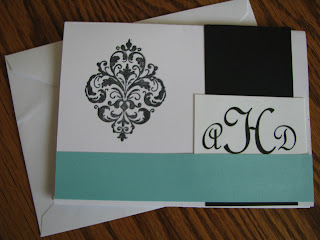 Personalized Monogramed Thank You Cards